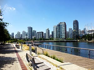 Vancouver - View of False Creek and Yaletown