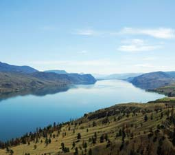 Flatlands and lakes in the Thompson Shuswap