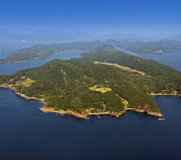 Pender Island from the air