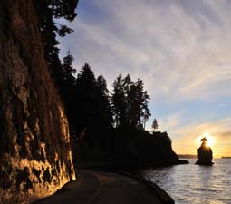 The Stanley Park Seawall Vancouver BC