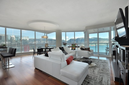 The main living area with incomparable views and access to the balcony.