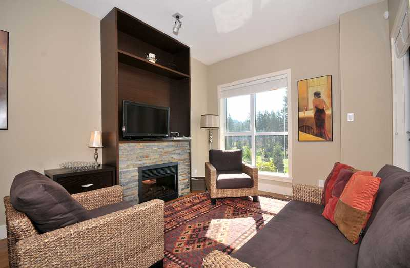 A comfortable living room spacious enough for the family.
