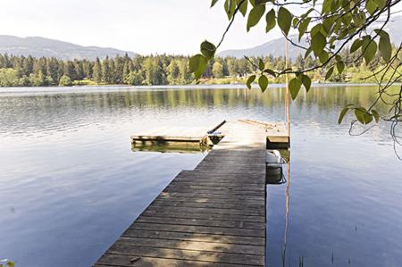 Beautiful Fuller Lake with private dock.
