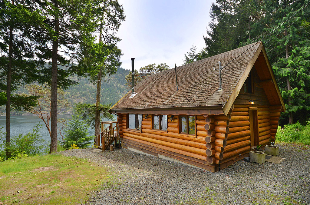 Images of serenity seaside cabin victoria bc ocean views for Log cabins victoria