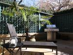 Incredible private fenced 300 square foot patio.