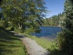 Take a walk around Long Lake and admire the clean waters and lush green forest.