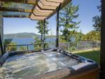Exit the shower and into the Hot Tub outside the Master Bedroom door.