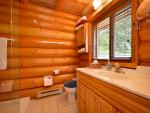 Cabin has full bathroom