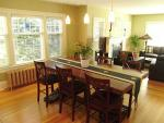 Large open plan for dining area and living room.