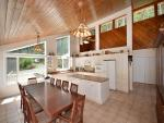 Dining and kitchen with views