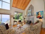 Living room with high ceilings and incredible views