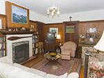 Historic home with comfortable interior. Relax by the fireplace.